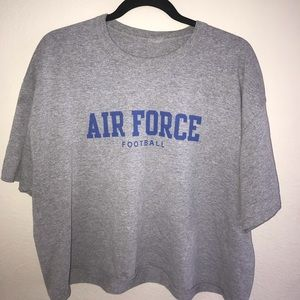 cropped air force football graphic tee
